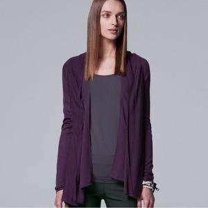 ■Simply Vera■ (XL) Purple Flyaway Cardigan